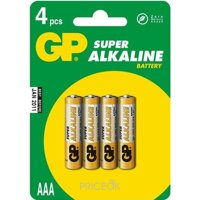Фото GP Batteries AAA bat Alkaline 4шт Super (24A)
