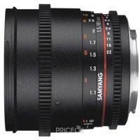 Фото Samyang 85mm T1.5 AS IF UMC VDSLR II Canon EF