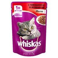 Фото Whiskas Рагу с говядиной и ягненком (для взрослых кошек 1+) 85 г