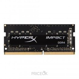 Фото Kingston 8GB SO-DIMM DDR4 2400MHz HyperX Impact (HX424S14IB2/8)