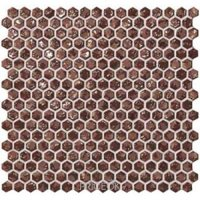 Фото Atlas Concorde Dwell Rust Hexagon Gold 30x30